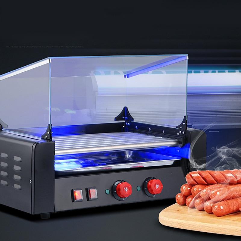 Коммерческая Машина для жарки хот-догов, машина для обжарки французских колбас, машина для барбекю хот-догов, роликовая машина для хот-догов