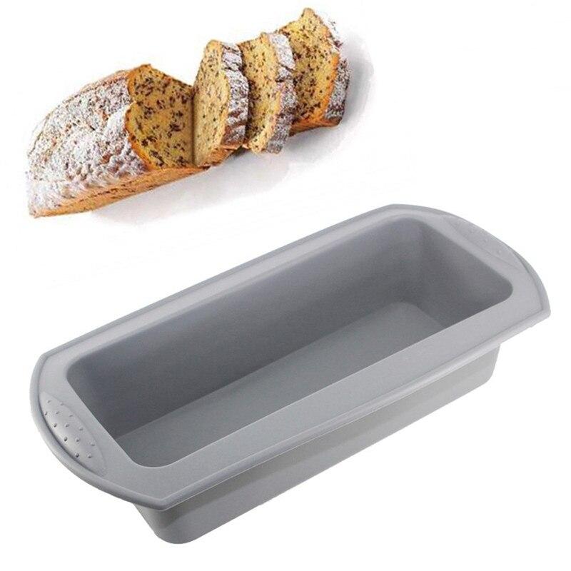 Molde de silicona rectangular grande para pastel, molde DIY con diseño de corazón para Magdalena de Fondant, moldes de Chocolate, moldes de magdalenas, utensilios para hornear