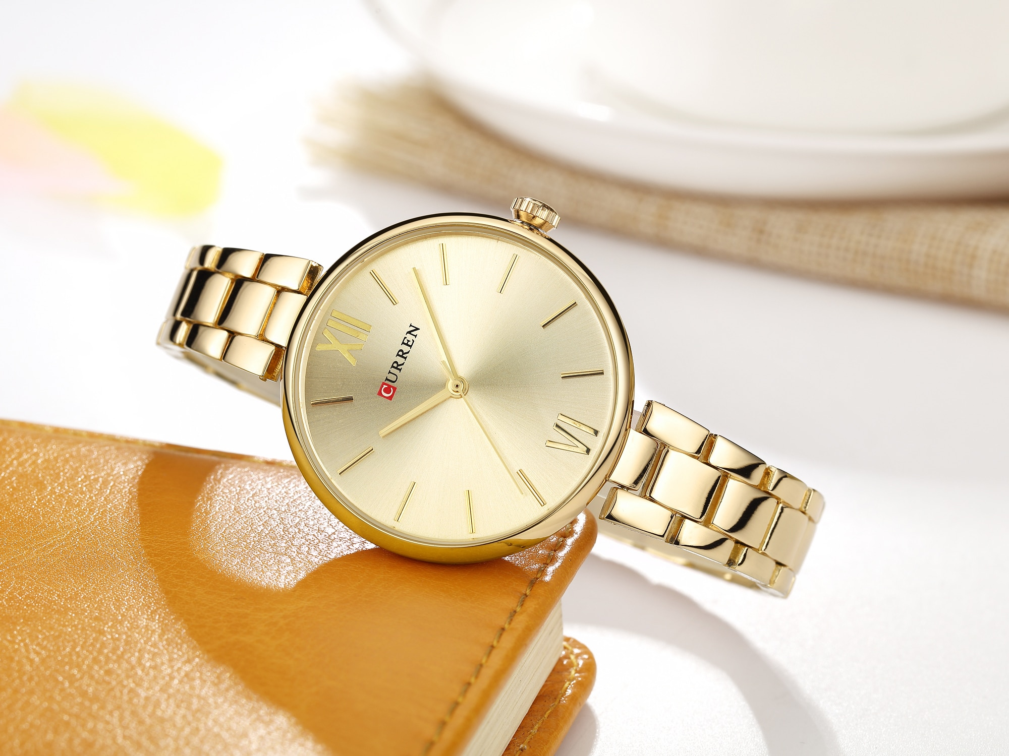 CURREN Casual Female Watch Stainless Steel Noble Ladies Quartz Wristwatches Fashion Forward Water Resistant Relojes Para Mujer enlarge