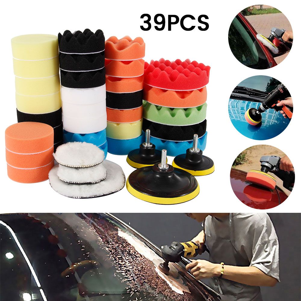 Car Polishing Sponge Pads Kit Foam Pad Buffer Kit Polishing Machine Wax Pads for Removes Scratches