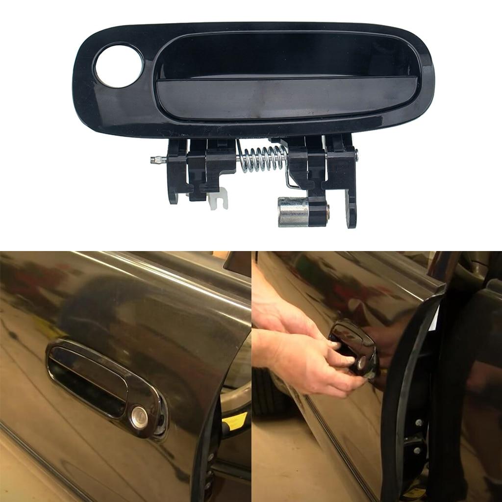 Puxador de porta exterior esquerdo dianteiro exterior do punho da porta do lado do motorista da substituição para 1998-2002 chevrolet/toyota corolla