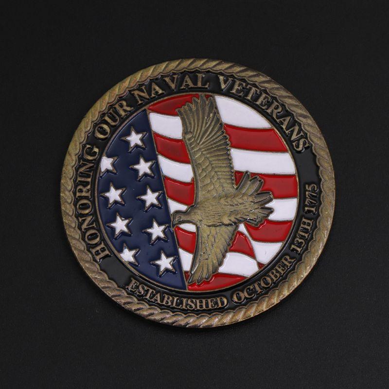 Colección de monedas de recuerdo de Festival aleación arte soldado amigos significado especial regalo Navarra veterano conmemorativo moneda colección