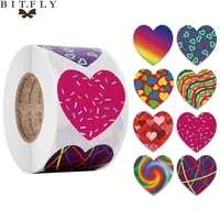 500pcs love heart stickers seal labels scrapbooking wedding gift packaging decorations diy new year birthday party sticker