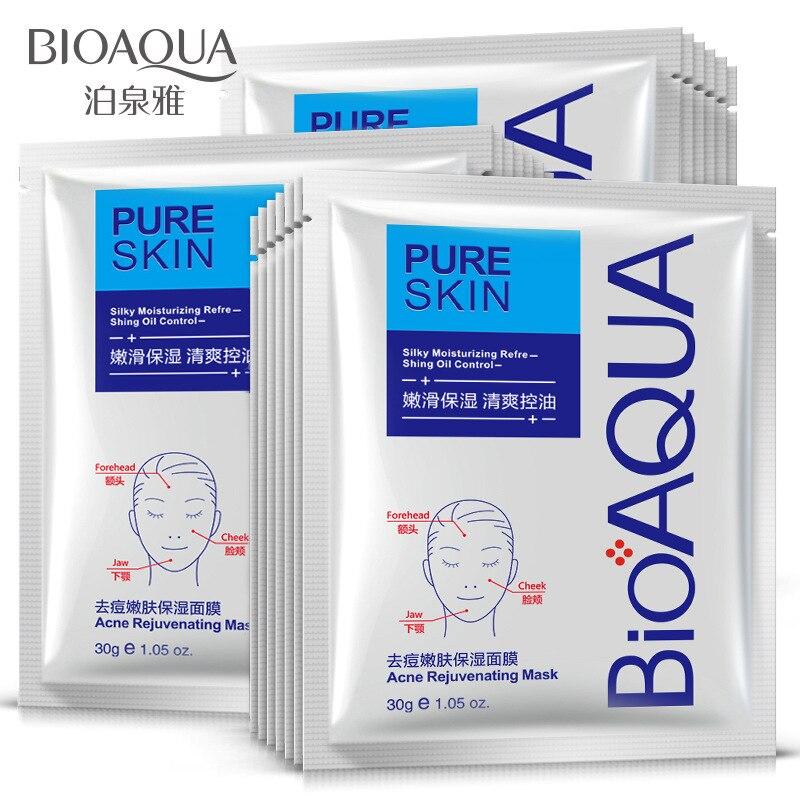 3pcs BIOQUA elimination printing moisturizing mask to control oil to black head shrink pore mask