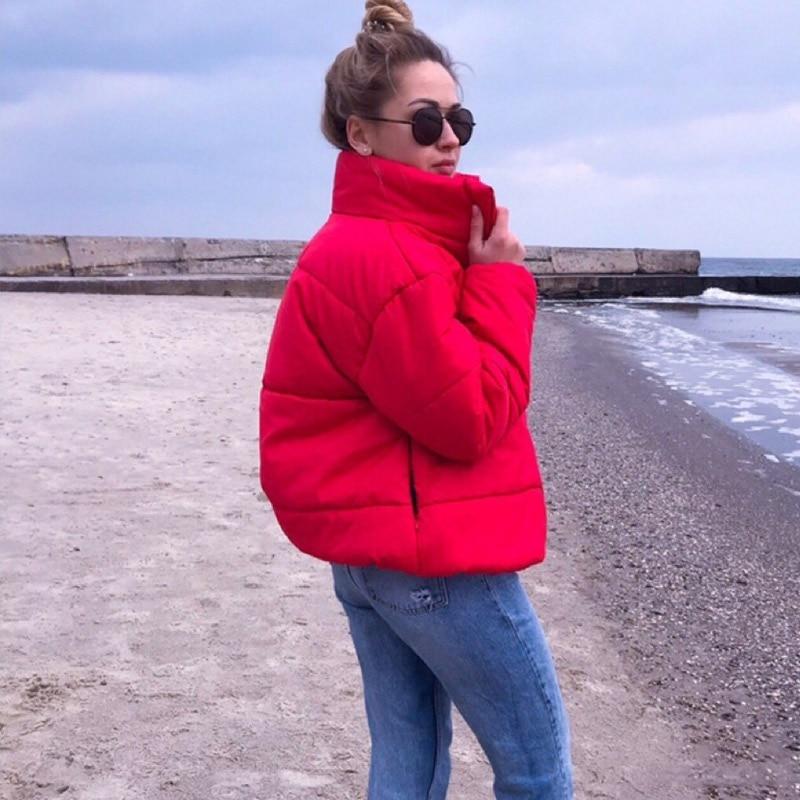 Inverno quente curto jaqueta feminina algodão acolchoado outono sólido parkas feminino 2020 moda casual parka casaco das mulheres puffer jaquetas
