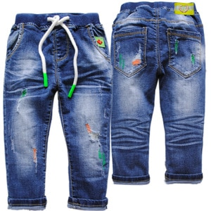 4041 0-4 years hole soft denim jeans pants baby jeans kids trousers boys casual pants children spring autumn hole jeans boy