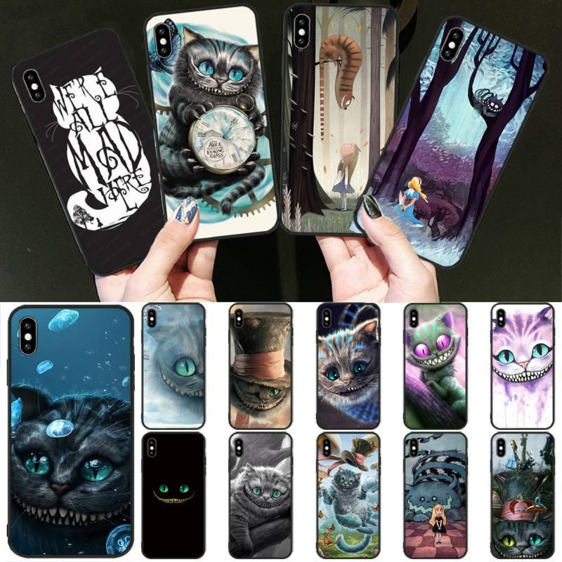 FFboost Alicia en el país de las maravillas de gato de Cheshire caso coque fundas para iphone 11 PRO MAX X XS X XR 4S 5S 6S 6 7 8 PLUS SE 2020 cubierta de los casos