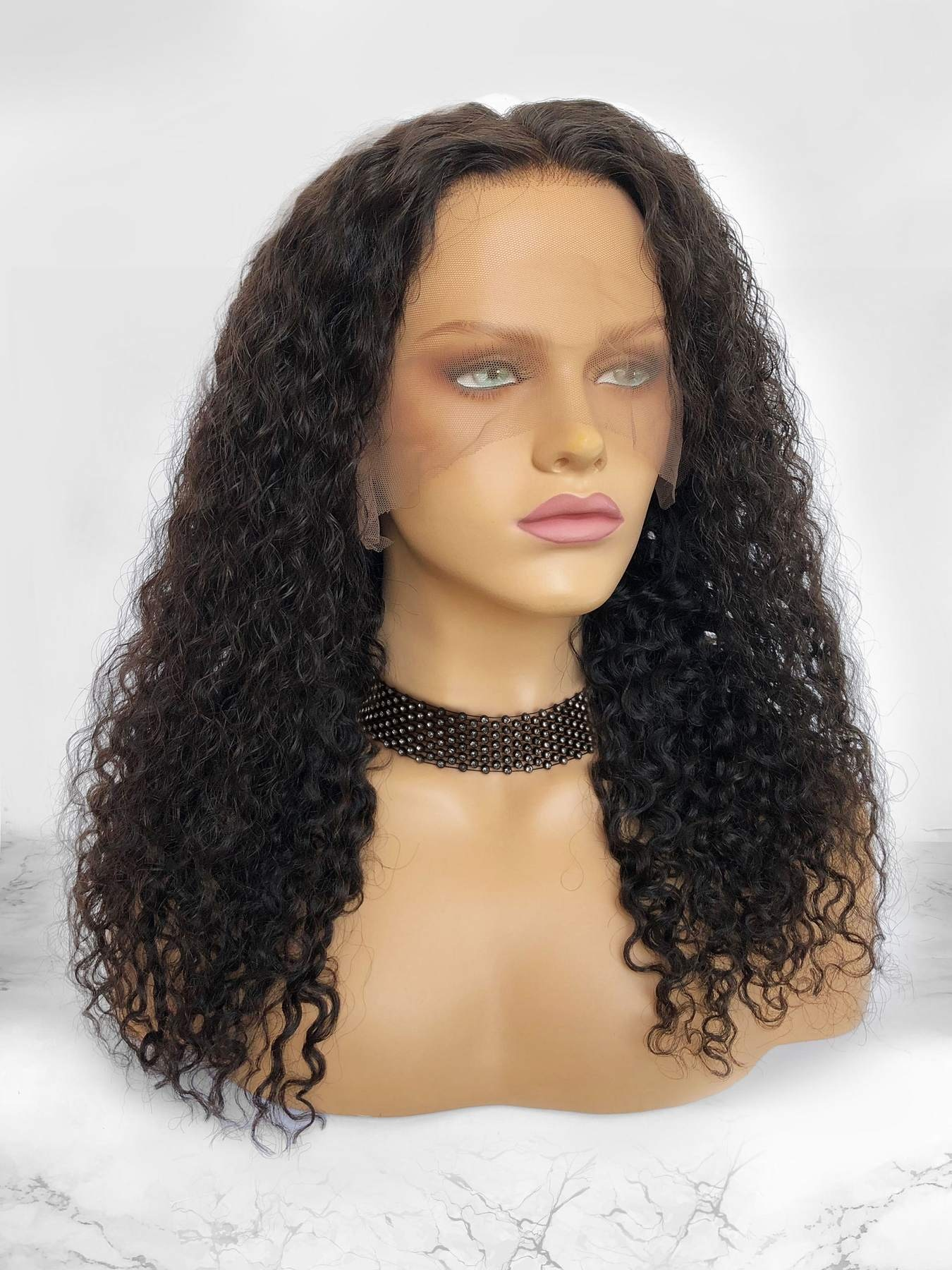 Free Shipping Loose Curly Synthetic Lace Front Wigs For Black Women Japan Hair Glueless Water Wave With Baby Hair