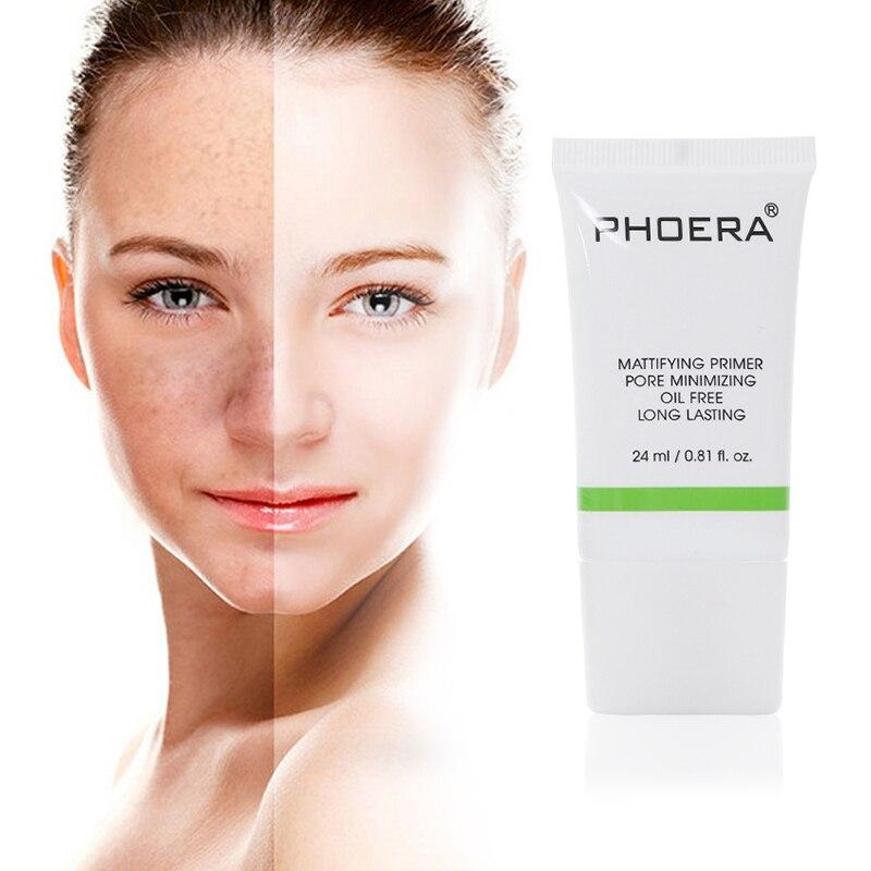24ml PHOERA Primer Make Up Shrink Pore Primer Base Smooth Face Brighten Makeup Skin Invisible Pores Concealer CreamTSLM1