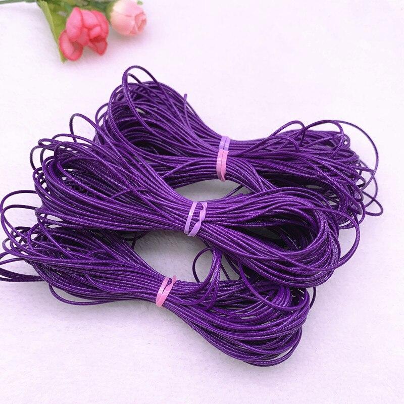 0.5-2.0mm roxo encerado cabo cabo de fio encerado corda cinta colar contas de corda para fazer jóias diy pulseira acessórios