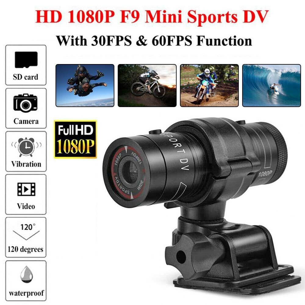 F9 Camera Full HD 1080p Mountain Bike Bicycle Motorcycle Helmet Sports Action Camera Video DV Camcorder Car Video Recorder