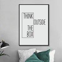 Affiche imprimee avec citations de motivation  peintures sur toile modernes  a la mode  pour decoration murale de bureau  images modernes pour la maison