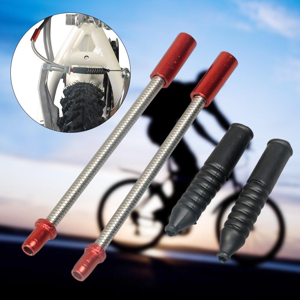 Accesorios de freno de bicicleta V juego de tubos de freno mangas botas Protector Metal guía curva bicicleta piezas de repuesto Accesorios