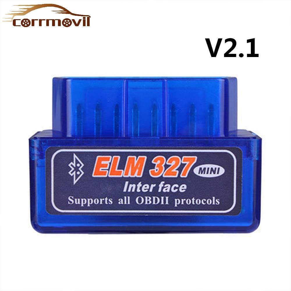 ELM327 V2.1 Bluetooth OBD2 Scanner MINI Diagnostic Adapter Scan Tool OBDII ELM 327 Tester For Android Windows Symbian Microsoft wifi obdii scan tool elm327 for ios