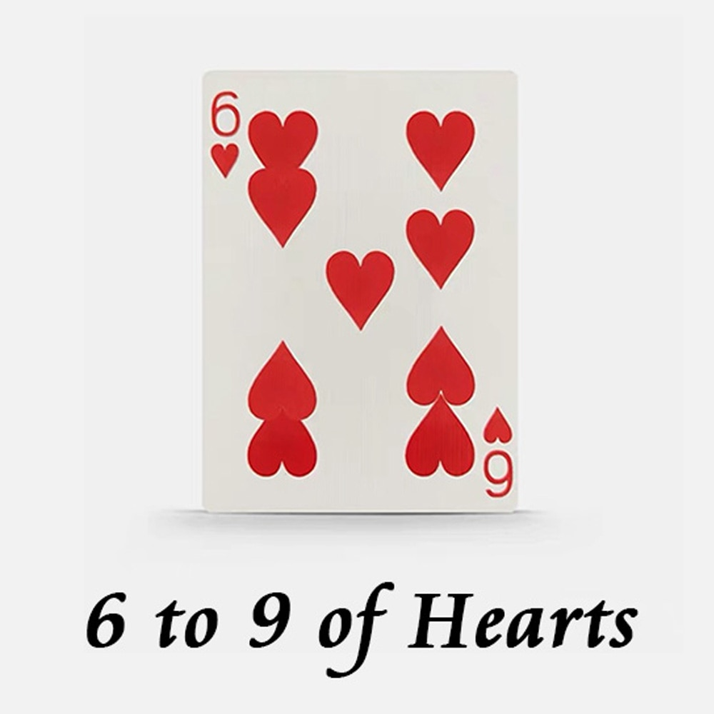 6 to 9 of Hearts Magic Tricks Stage Close Up Magia Playing Cards Poker Magie Mentalism Gimmick Props Card Prediction Magica недорого