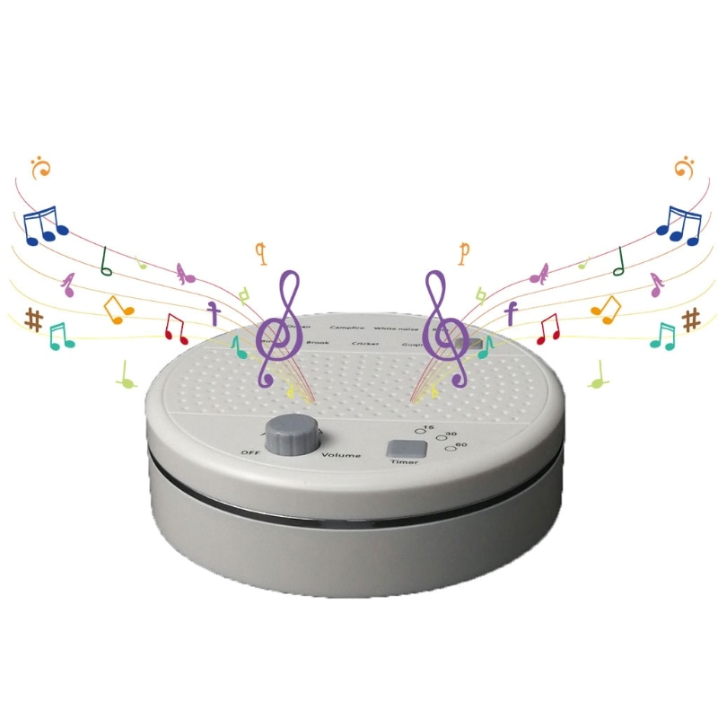 White Noise Machine - Sleep Sound Machine for Baby Kids Adults - 9 HiFi Soothing Sounds & 3 Timer, for Home Office Yoga