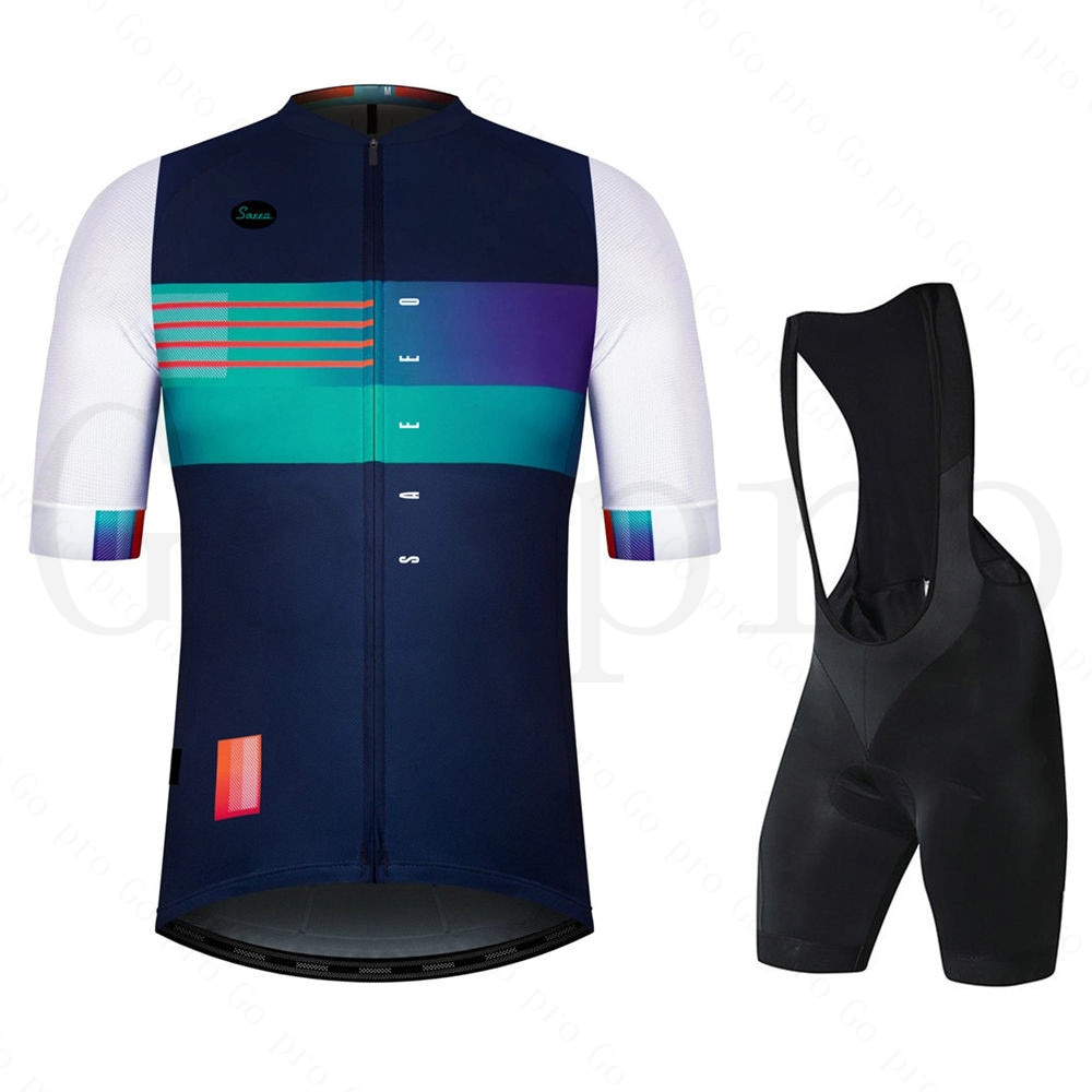 Conjunto de Ciclismo profesional para hombre, ropa de bicicleta de manga corta,...