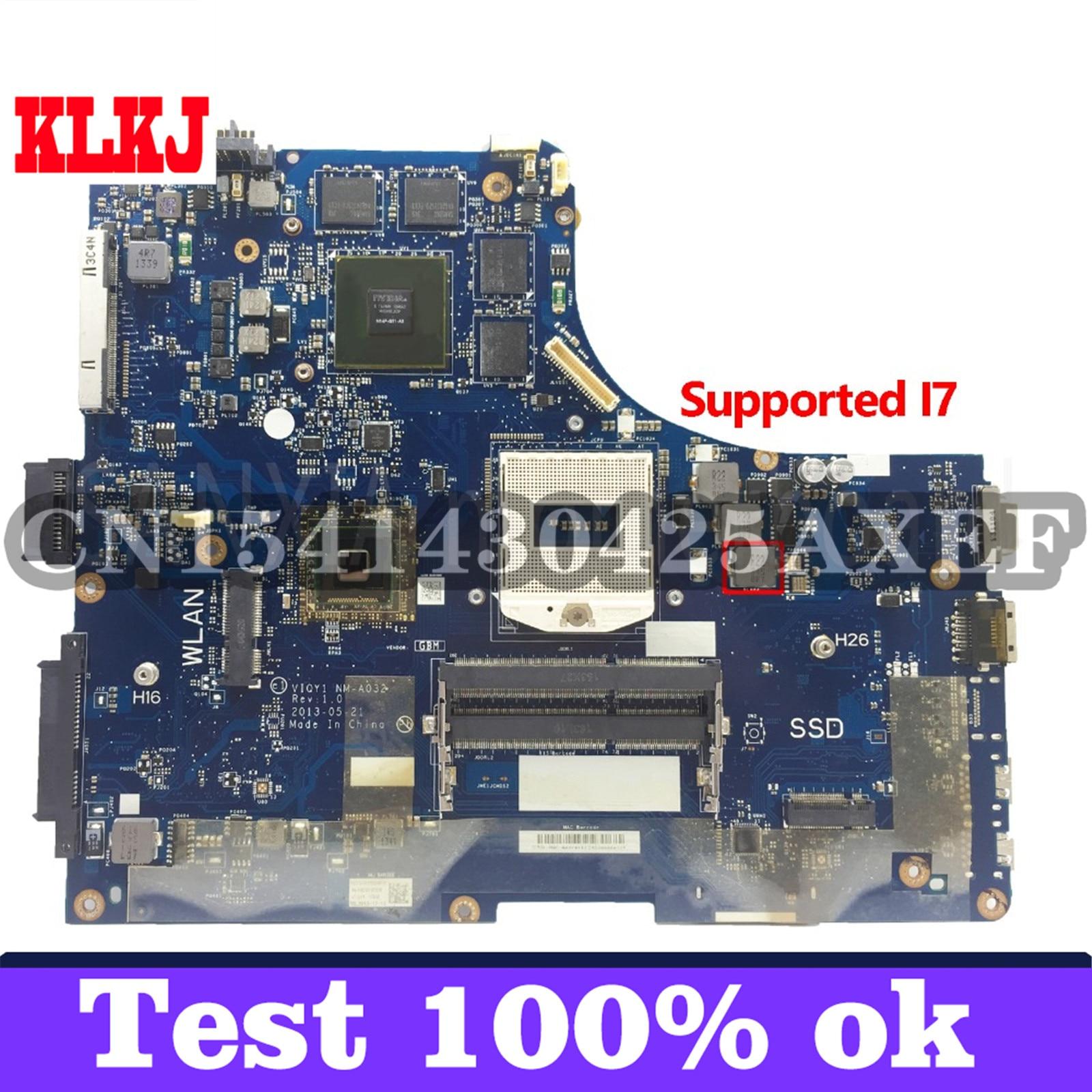KLKJ NM-A032 اللوحة الرئيسية Laotop لينوفو Y510P 1920*1080 اللوحة الرئيسية الأصلية GT750M/GT755M دعم I7 وحدة المعالجة المركزية