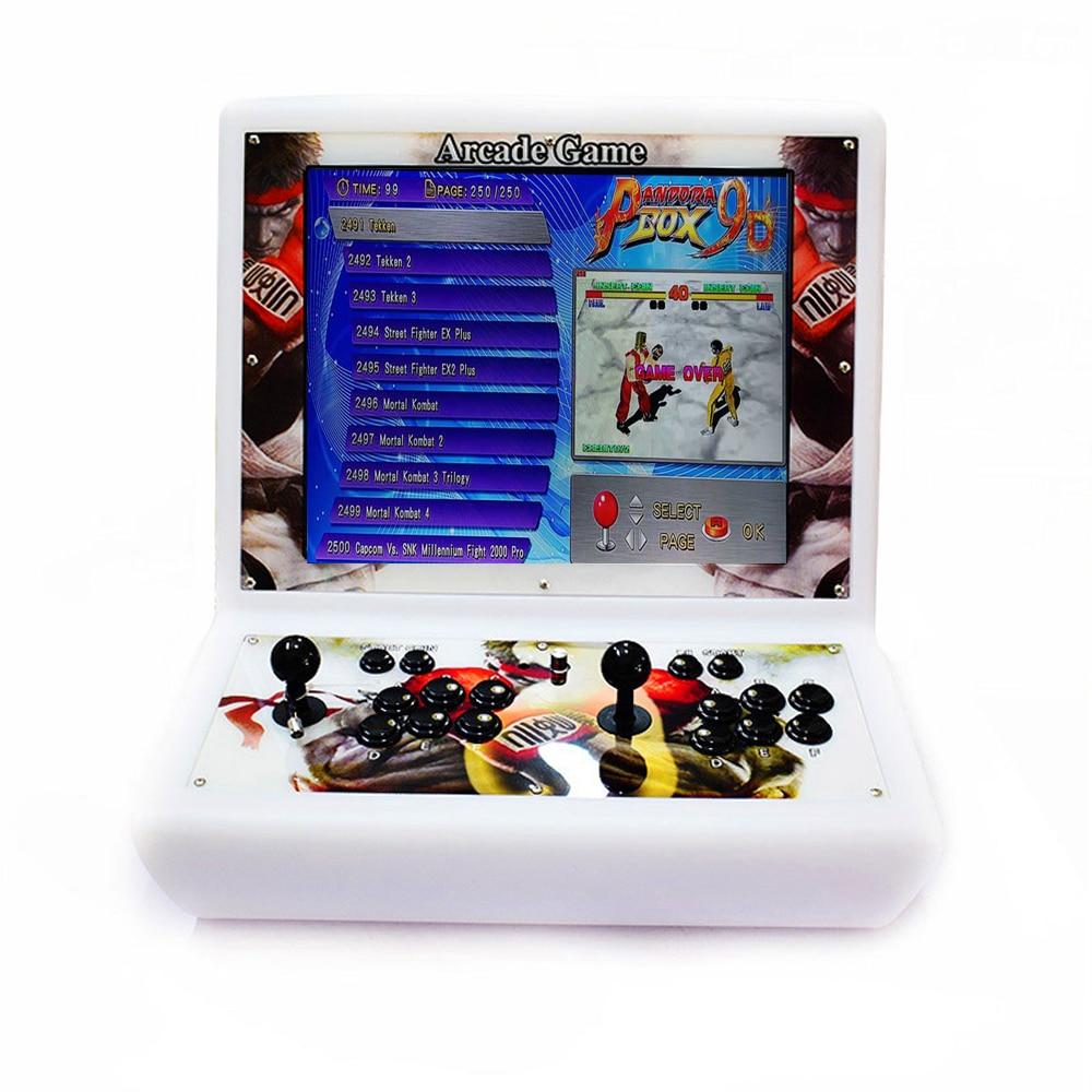 "Pandora 19 ""LCD Mini mesa superior arcade con juegos clásicos 2500 en 1 PCB/mini máquina"