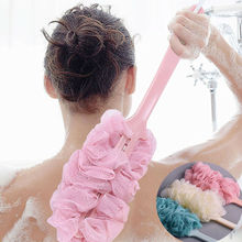 1pc Lange Griff Bad Pinsel Zurück Bad Dusche Wäscher Körper Weich Mesh Peeling Puff Reinigen Sich Bad Zurück Pinsel schwamm