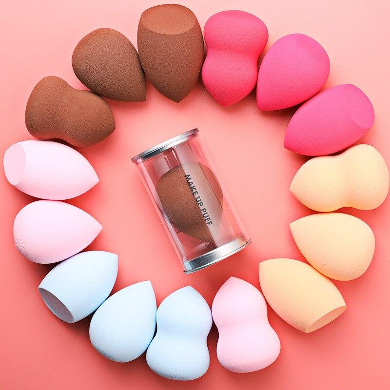 1 Uds., esponja de maquillaje, esponja de maquillaje, belleza, Cara de huevo, crema de base líquida, maquillaje, polvo cosmético, forma de gota de agua
