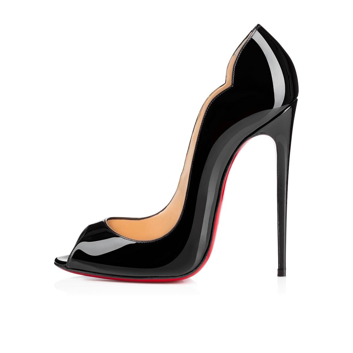 Luxury Pumps Clear Sexy Platform Women High Heels 8 10 12cm Fashion Casual Mules Red Bottom Wedding
