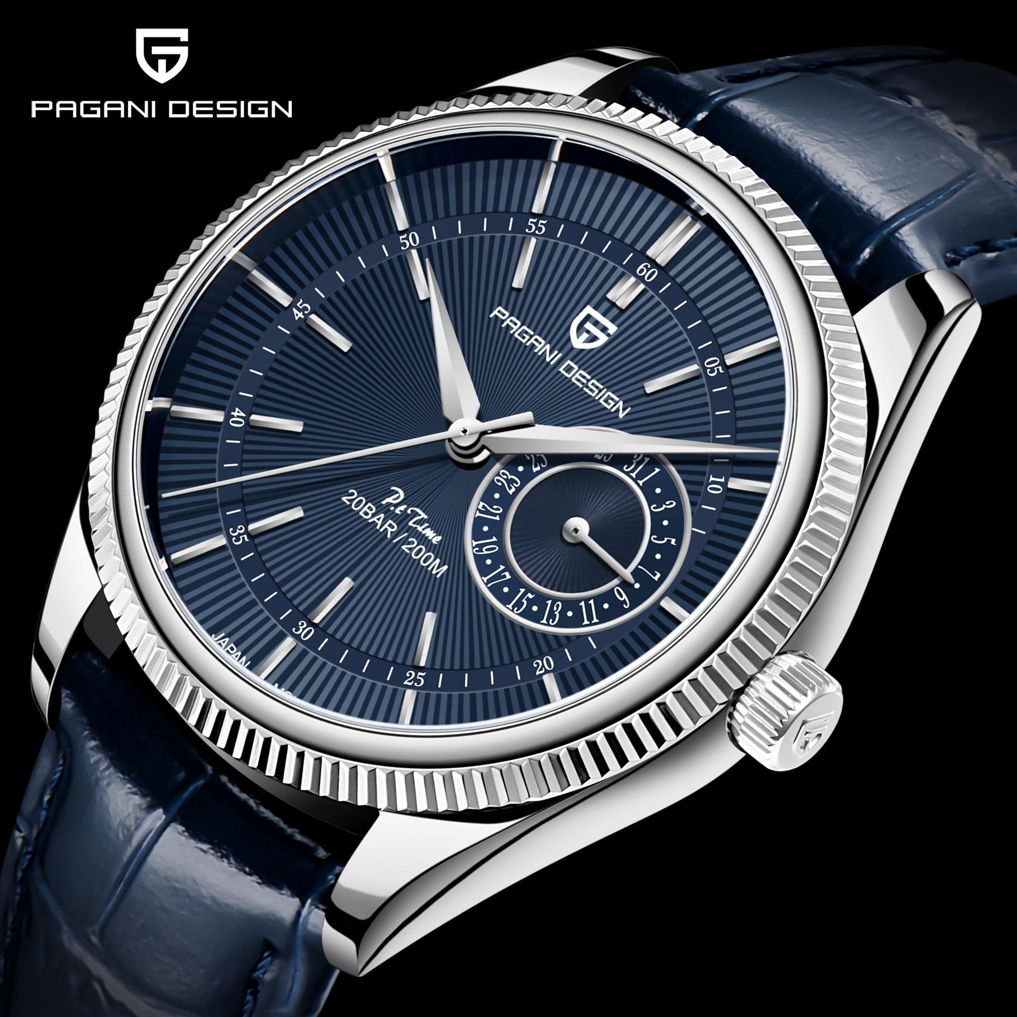 2021 New PAGANI Design Top Brand Men's Quartz Watch Sapphire VH65 Automatic Watch 200m Waterproof Me