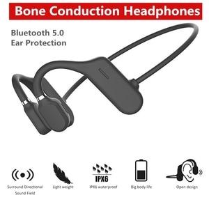 Bluetooth 5.0 Wireless Headphones Bone Conduction Earphone Waterproof Outdoor Sport Headset with Microphone Handsfree Headset