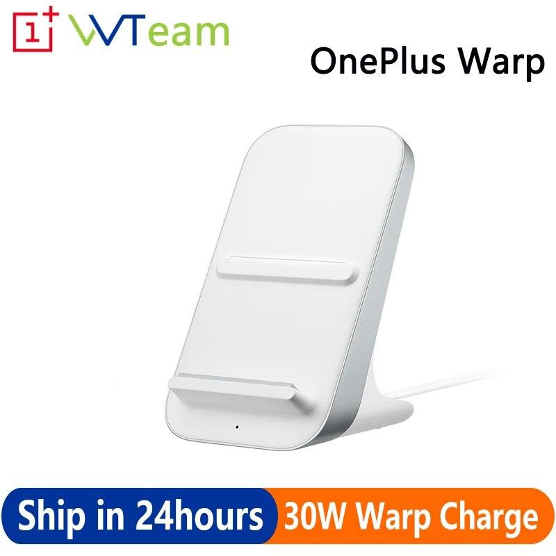 شاحن لاسلكي أصلي من OnePlus شاحن لاسلكي بقدرة 30 وات 50 وات وضع وقت النوم الذكي جهاز Qi EPP لتبريد الهواء 30 وات لهاتف OnePlus 8 Pro 9Pro