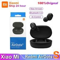 2021 оригинальные Xiaomi Redmi AirDots S TWS Bluetooth 5,0 шумоподавление с микрофоном управление ИИ настоящие беспроводные наушники Airdots 2S гарнитура