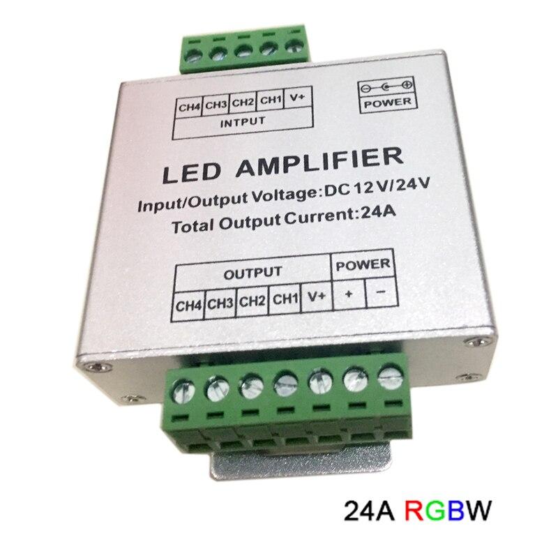 DC12V-24V светодиодный RGBW/RGB усилитель 12A 24A 30A 3CH 4CH выход RGBW/RGB светодиодный светильник репитер питания пульт управления