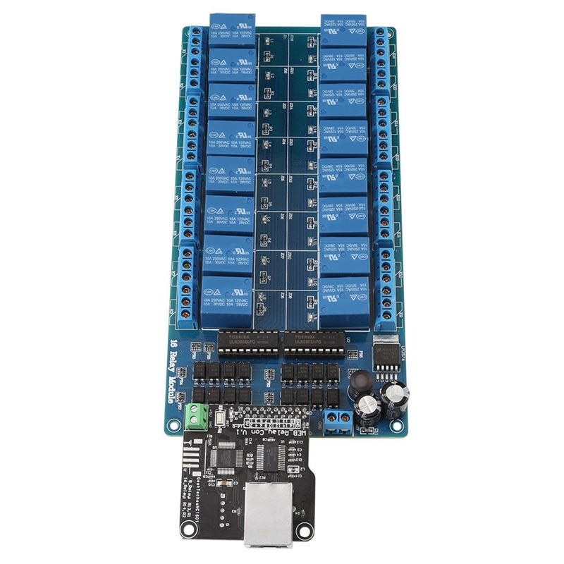Ethernet Control Module Lan Wan Network Web Server RJ45 Port 16 Channel Relay Is Ethernet Controller Board.RJ45 Interface