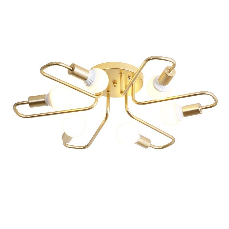 Luces de techo LED, múltiples lámparas de casquillo E27 negro/blanco/dorado para sala de estar/dormitorio, lámpara de techo Vintage creativa