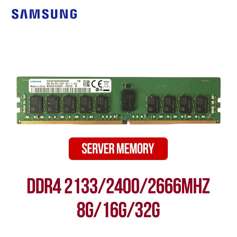 سامسونج DDR4 خادم RAM 8GB 16GB 32GB 2133/2400/2666/2933/3200MHz ECC/RECC خادم الذاكرة DDR4 1Rx 4/2RX4/1Rx 8/2Rx8