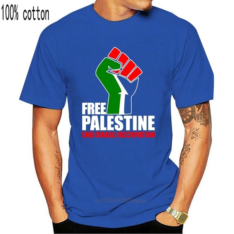 Sommer Herren Druck T-shirt Freies Palästina-Ende Israelische Besetzung Männer T-shirt Durch