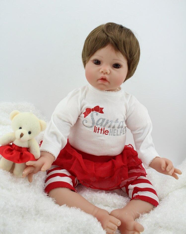 NPK, muñecas Reborn de silicona de 50 cm, muñecas de moda realistas Boneca para Princesa, niños, regalo de cumpleaños, Bebes Reborn L.O.L
