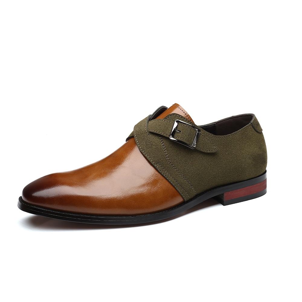 2020 sapatos de couro sapatos masculinos para negócios oficiais sapatos casuais cavalheiro formal para festa de casamento