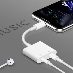 OTG Aux 3.5MM Audio Charging Adapter Headphone Jack Microphone Converter Support iOS14