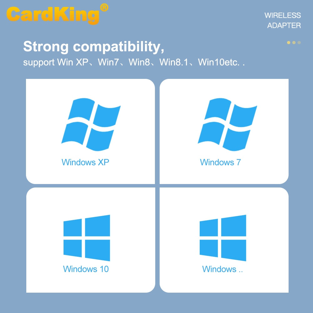 CardKing 150Mbps USB WiFi Adapter 802.11n High Gain 6dBi Drive-Free Long Distance Receiver Network Card Support Windows Mac enlarge