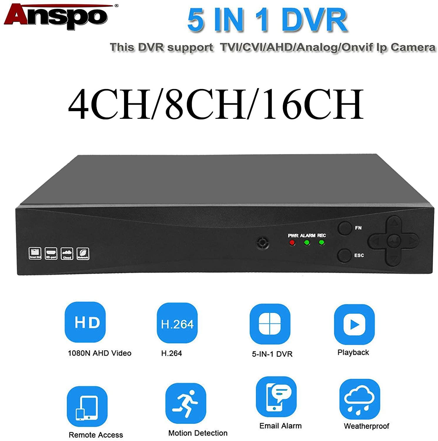 4ch color video digital color quad splitter processor with vga out for cctv security system with bnc switcher splitter 4CH 5-in-1 AHD 1080P Video Recorder CCTV Smart Security DVR HD VGA HDMI BNC