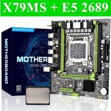 X79 serveur de bureau carte mère LGA 2011 avec E5 2689 Intel LGA2011 Socket CPU PCI-E M.2 SSD ordinateur mianboard ensemble Turbe boost