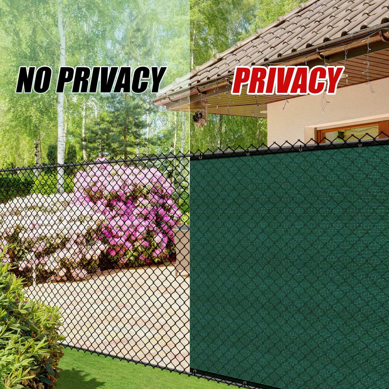 Pantalla de privacidad de cerca verde de 6x50 , cubierta de parabrisas, tela de lona de cortina, malla de malla, tela-resistente