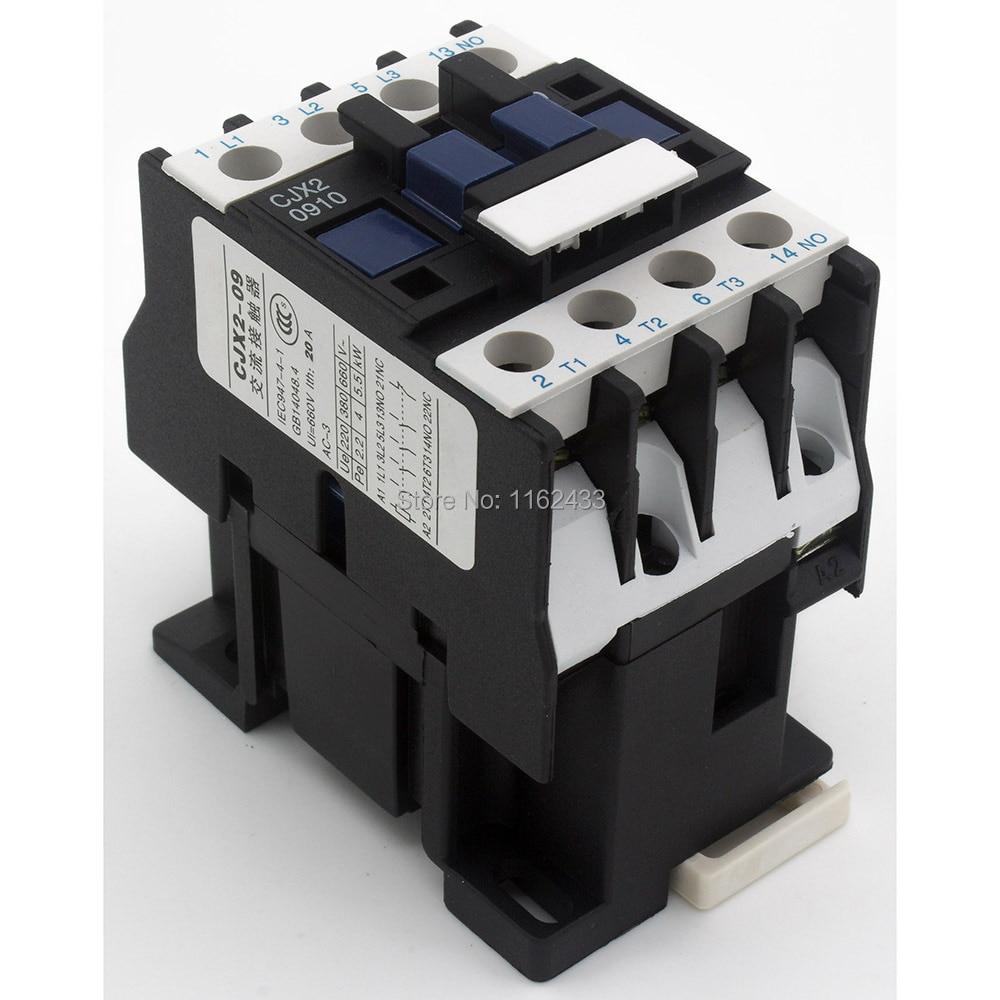 CJX2-0910 9A AC 380V 3P NO contactor CJX2-09 LC1-D09 serie 380VAC AC...