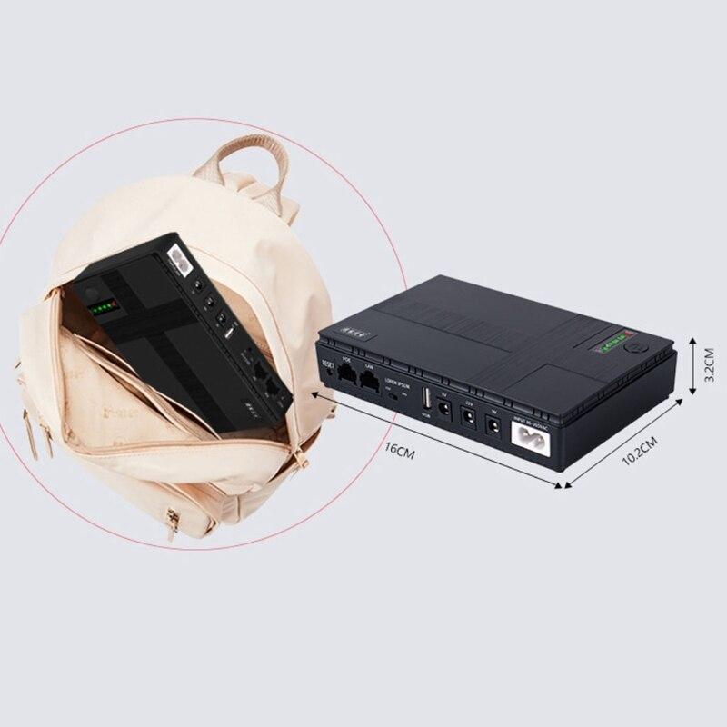 5 فولت ، 9 فولت ، 12 فولت إمدادات الطاقة غير المنقطعة بطارية UPS صغيرة احتياطية ل WiFi ، راوتر ، مودم ، كاميرا الأمن