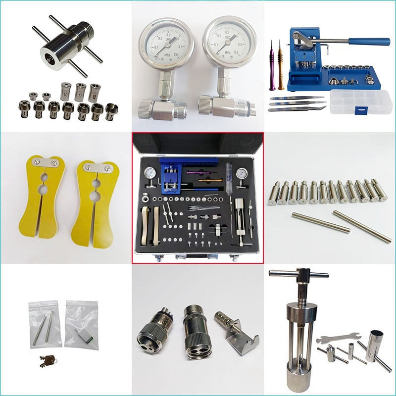Dental Handpiece Repair Kits Tool for Low Speed and High Speed Bearing Cartridge Chucks Maintenance Almighty Set