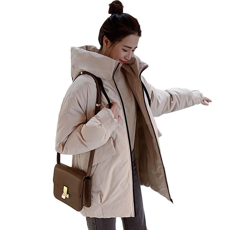 Nueva moda la nueva chaqueta con capucha para Mujer de algodón de...