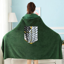 Attack on Titan Blanket Cloak Shingeki No Kyojin Survey Corps Cloak Cape Flannel Cosplay Costume Hoodie with real photos