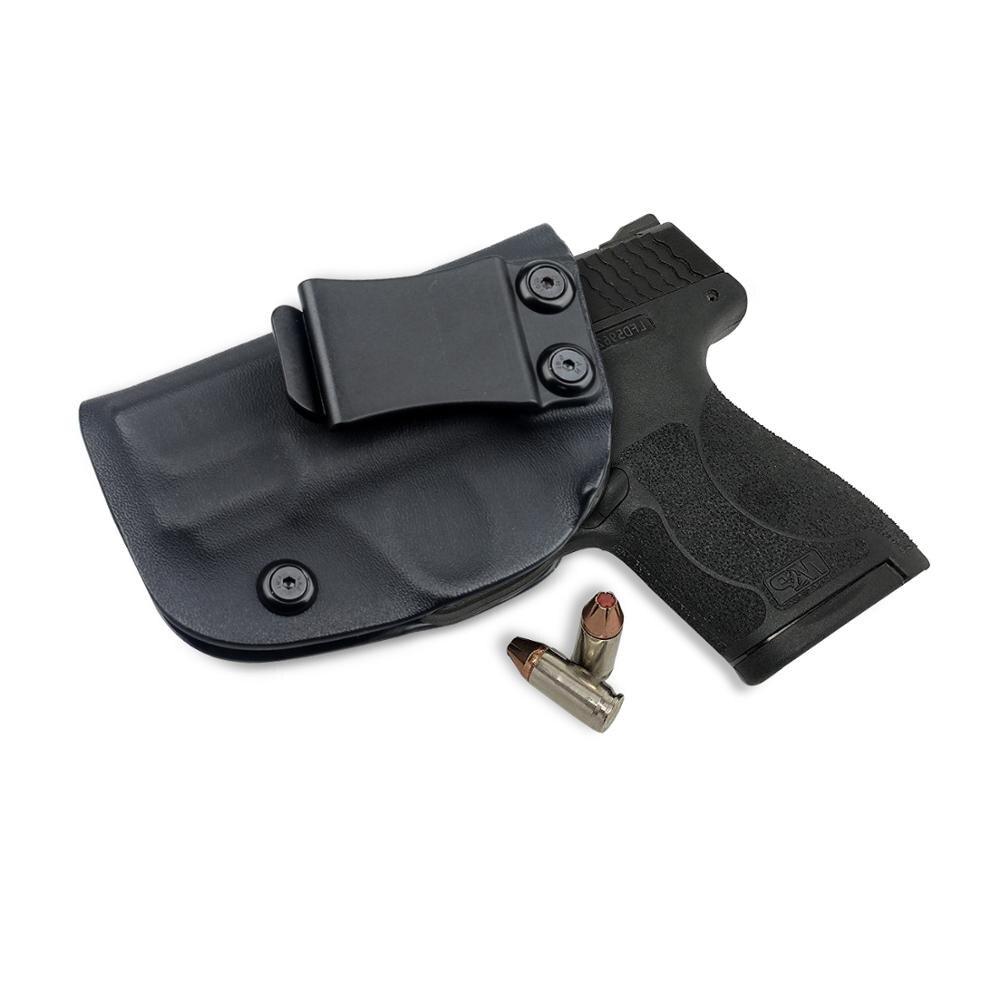 Kosibate caça kydex coldre de arma preta coldre para smith wesson m & p escudo 9mm/.40 s & w iwb escondido carry holsters pistola