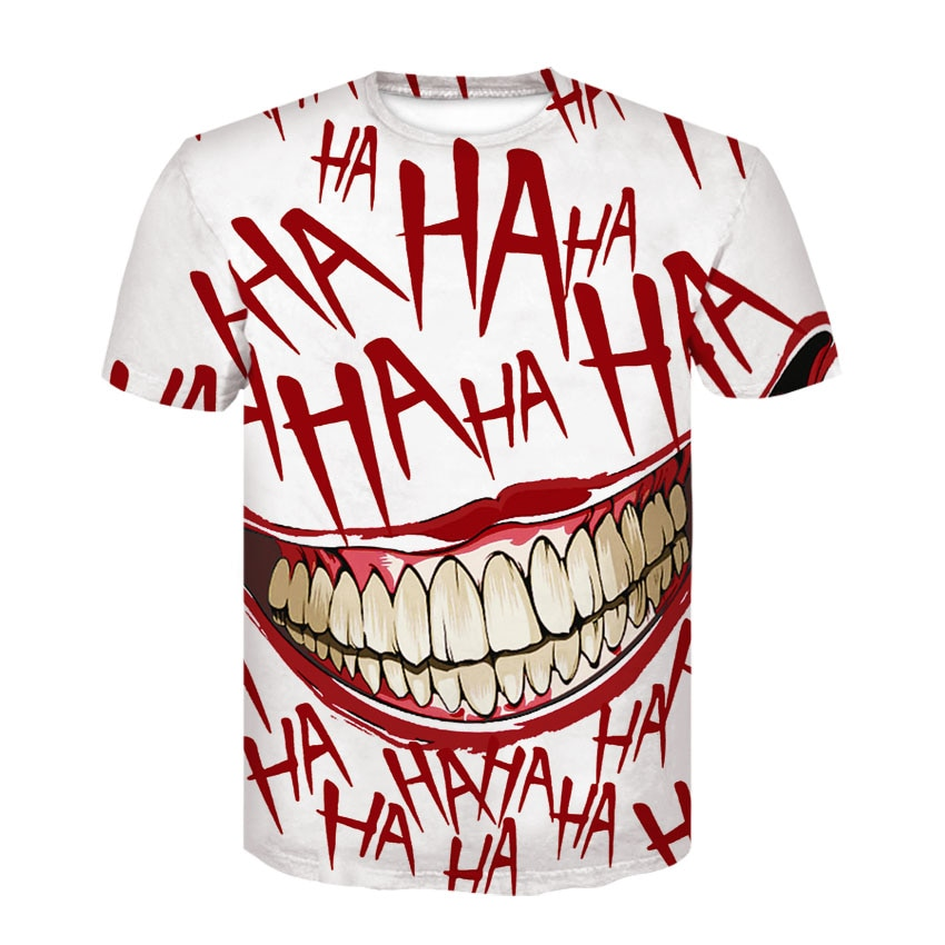 2020 New Funny Joker 3D T shirt Casual Tee shirts Anmie Character Print stranger things T-shirt Summer style tops t men