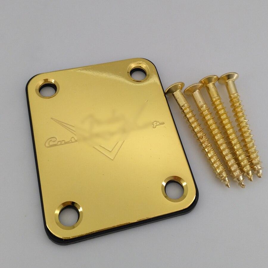 Guitar Neck Plate Custom Shop Gold For ST TL Guitar